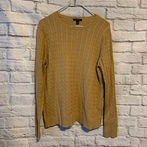 Lands end XL 18/20 tan pullover sweater 4473